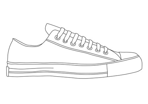 Sneaker Template how to draw shoe outline