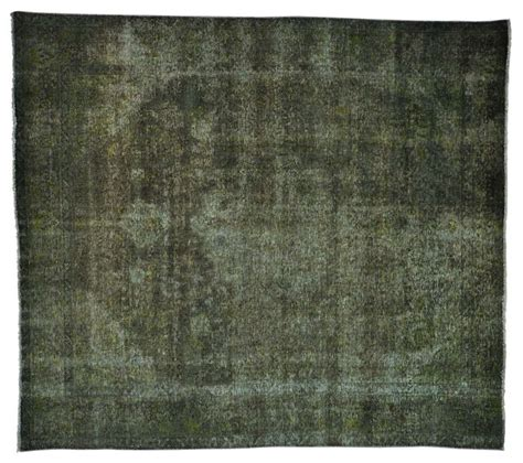 Forest Green Area Rugs 8 X9 Forest Green Overdyed Worn Tabriz Handmade Rug Transitional Area Rugs