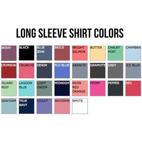 comfort colors size chart long sleeve monogrammed long sleeve comfort colors t shirt southern