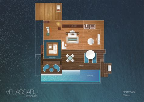 Contemporary Open Floor Plans Maldives Water Villas Luxury Water Suite At Velassaru