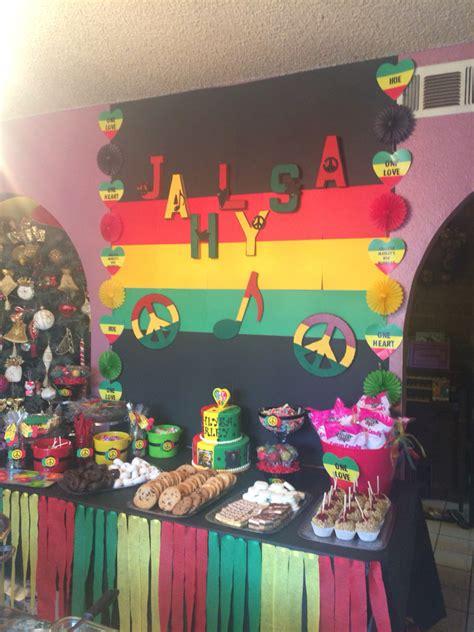 jamaican themed party food bob marley bedding rasta one love one heart reggae birthday party jahlysa s one