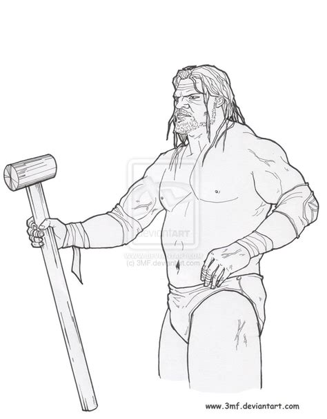 wwe triple h pages coloring pages
