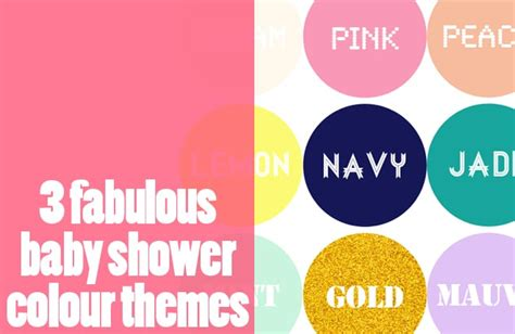fabulous baby shower themes three fabulous baby shower colour themes kid magazine