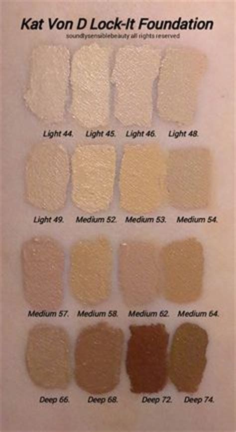 kat von d lock it foundation light 41 makeup geek duochrome eyeshadow swatches on light and dark