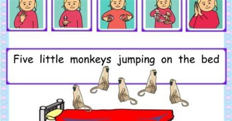 three little monkeys jumping on the bed british sign language bsl five little monkeys jumping on