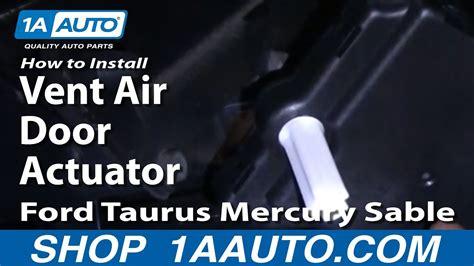 install replace vent air door actuator ford taurus