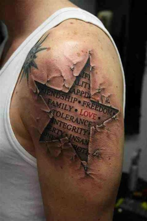 cool star tattoos for men types of 3d tattoos for 3d designs 3d
