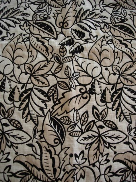 black and cream upholstery fabric cream black leaf upholstery fabric upholstery fabric