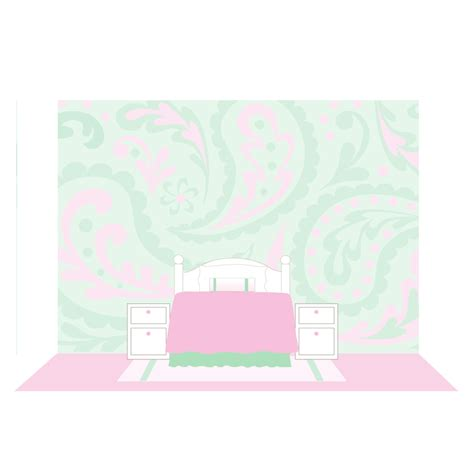 how to paint a wall mural in a bedroom paisley paint by number wall mural by elephants on the wall