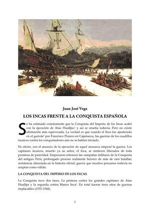 libro antes del incal calam 233 o los incas frente a la conquista espa 209 ola