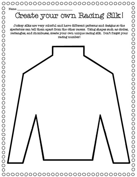 jockey silks template free coloring pages of jockey hats
