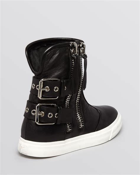 lyst giuseppe zanotti high top sneakers buckle