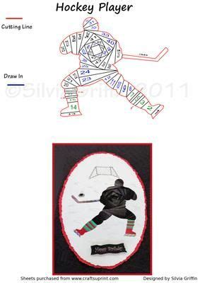 hockey player cards template 36 best images about iris folding sports on