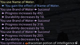 ffxiv level 70 mats 3 0 macro for 70 durability 863 difficulty nq items