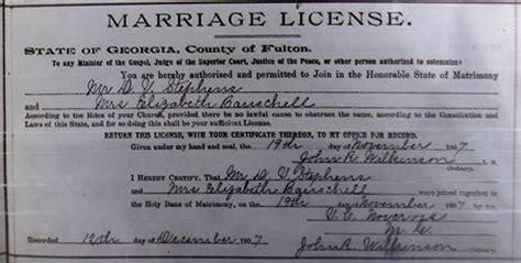 Marriage License Records Ga Secret Of Dionysius Stephens Part 04 Elizabeth