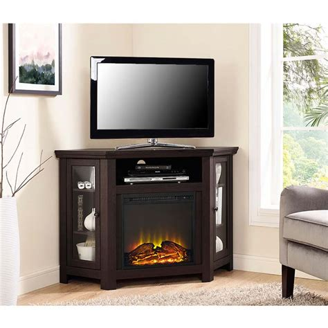 Tv Corner Fireplace by Walker Edison Corner Fireplace Tv Stand For 50 Inch