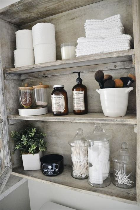 decorate bathroom shelves 25 best ideas about bathroom shelves on half
