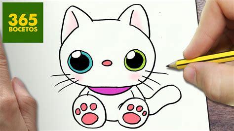 imagenes kawaii gatos como dibujar gato kawaii paso a paso dibujos kawaii