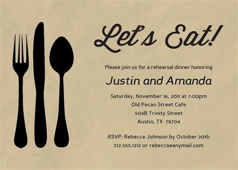 Dinner Invitation Cards Templates by Baby Shower Invitation Dinner Invitation Template