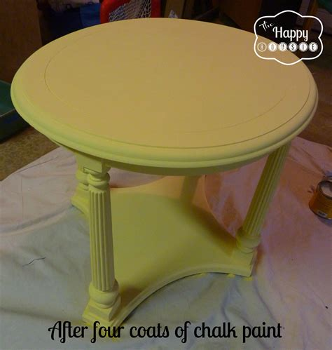 mellow yellow diy chalk paint side table the happy housie