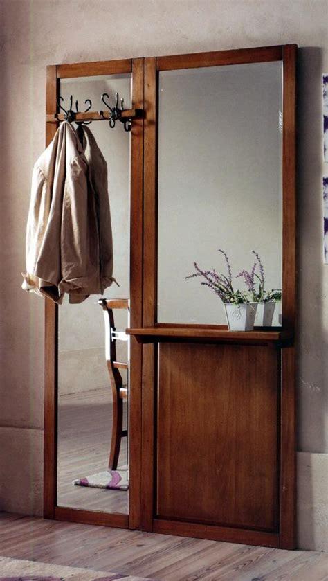 parete ingresso ingresso parete in legno noce classico specchio