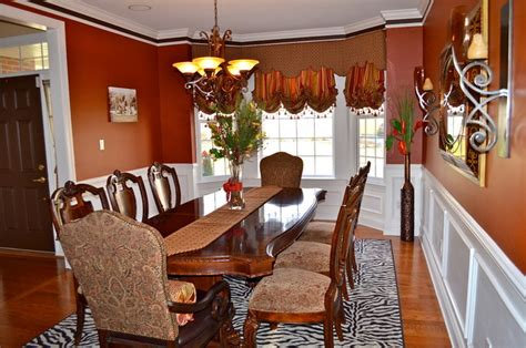bay window treatment traditional dining room