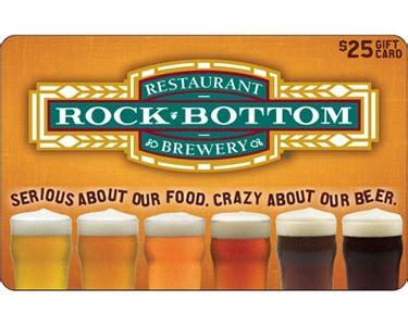 Rock Bottom Gift Card - 25 rock bottom restaurant gift card quibids com