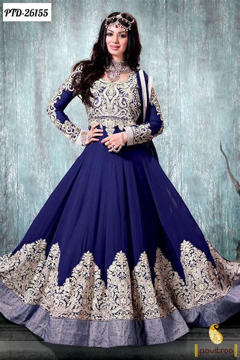 Wedding Dresses Designer Blue by Blue Designer Bridal Anarkali Salwar Suits By Pavitraa On