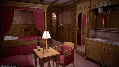 first class bedrooms on the titanic titanic replica photos show how it will compare to the