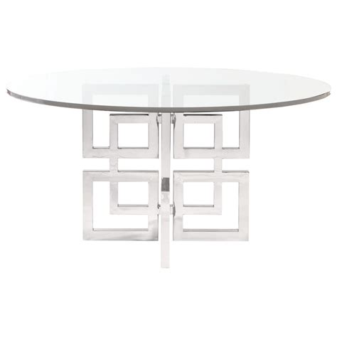 bernhardt soho luxe 60 quot dining table mathis bernhardt soho luxe contemporary dining table with glass table top baer s furniture dining