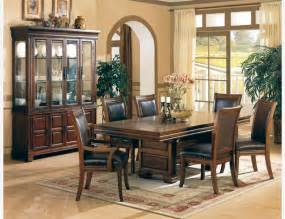 Furniture Dining Room Coaster 7 Pc Cherry Wood Dining Room Set Table Chairs Leather Seat Traditional Dining Sets