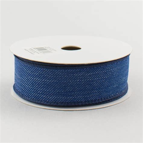 Denim Ribbon 1 5 quot royal denim ribbon blue jean 10 yards rg156341