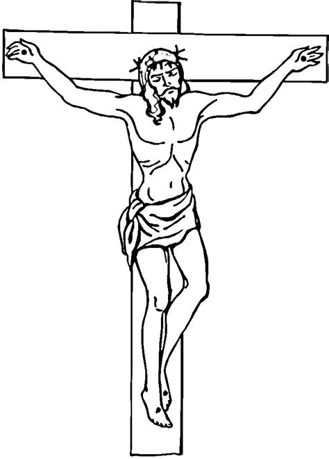 coloring page jesus cross jesus on the cross cartoon cliparts co
