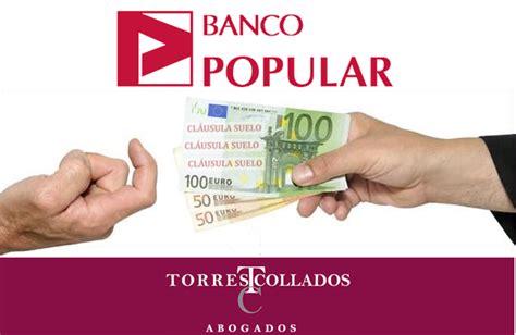 afectados clausula suelo banco popular clausula suelo banco popular oficina directa dinero