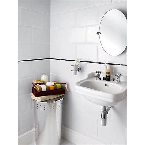 travis perkins bathroom tiles wickes bevelled edge white gloss ceramic wall tile 300 x