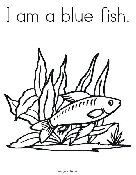 blue fish coloring pages i am a blue fish coloring page twisty noodle