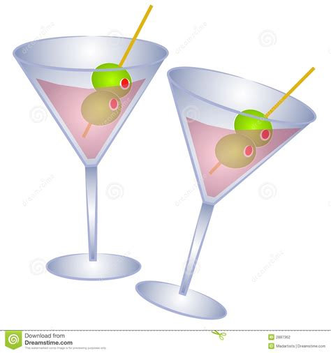 Cocktail Clipart Martini Glass Pencil And In Color