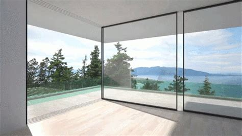 sliding glass walls vitrocsa s glass walls slide around corners to serve your