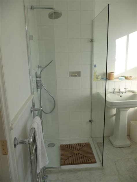 Smallest Bathroom With Shower Bathroom Fantastic Small Bathroom With Shower Stall Decoration Using Brick Tile