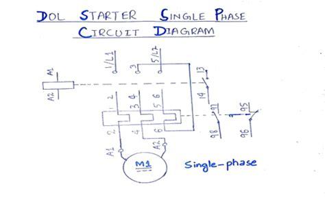 wiring diagram of single phase motor starter wiring diagram