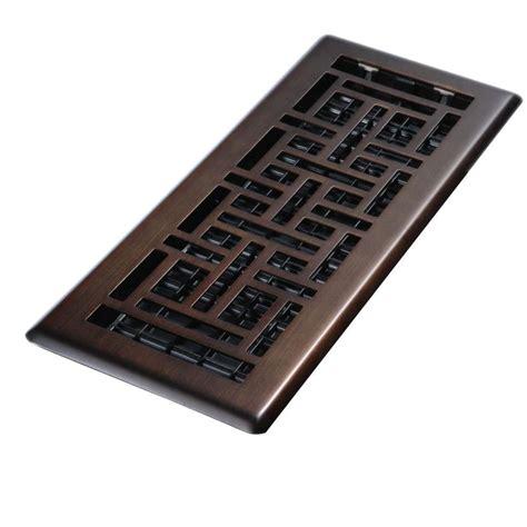 decor grates      steel brushed nickel floor register oriental design ajh nkl