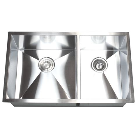 40 kitchen sink 32 inch stainless steel undermount 60 40 bowl