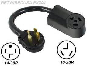 new male 14 30p 4 prong plug to old female 10 30r 3 pin