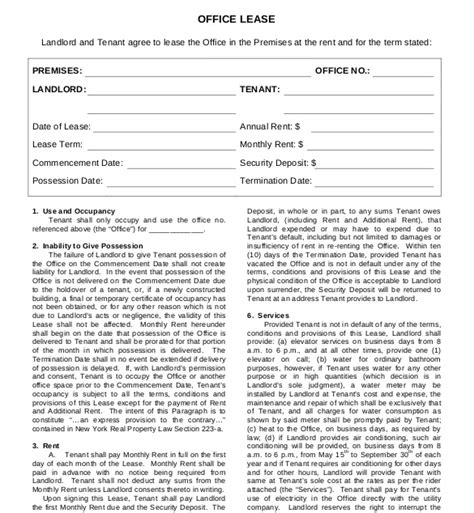 office tenancy agreement template lease agreement template 15 free word pdf documents