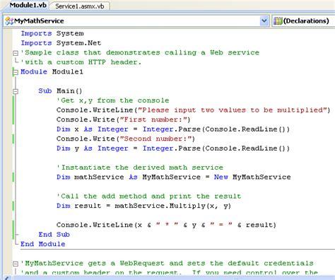 tutorial web service vb net the asp net and vb net web service programming tutorials