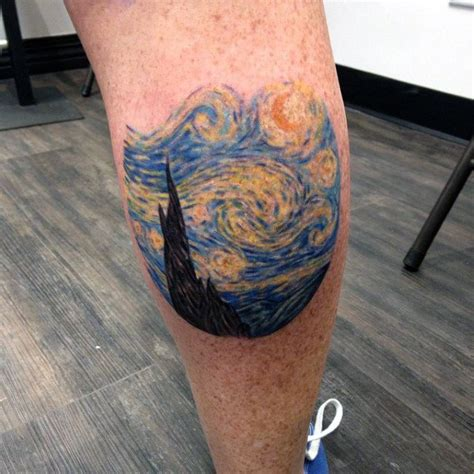 small leg tattoos for men 40 starry designs for painting ink ideas