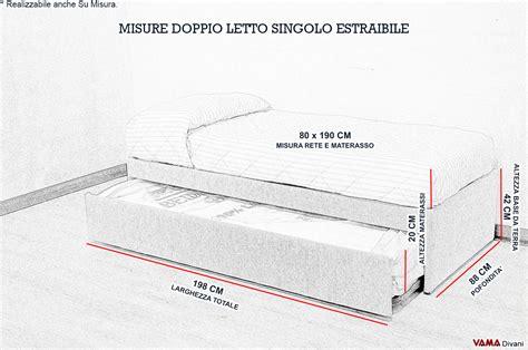 quanto misura un letto matrimoniale doppio letto singolo estraibile a scomparsa con reti a doghe
