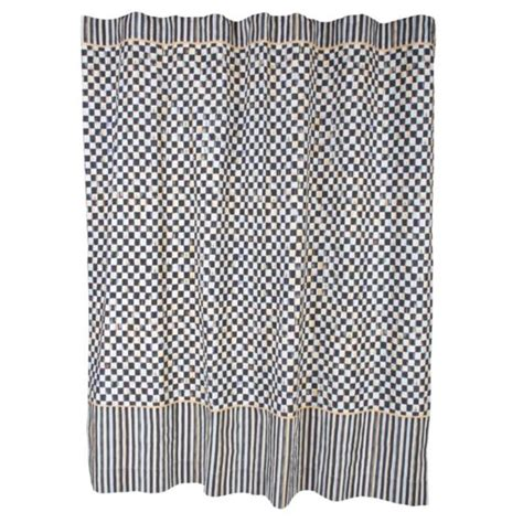 mackenzie childs curtains mackenzie childs courtly check linen fabric shower curtain