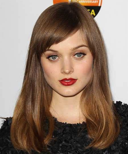brunette long hairstyles with bangs long hairstyles for brunettes with straight bangs styles