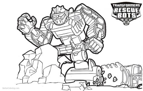 rescue bots coloring pages transformers rescue bots coloring pages boulder line
